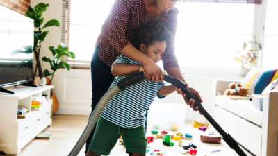 Have your kids Spring Clean with you